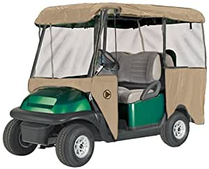 Greenline 4 Passenger Drivable Golf Cart Enclosure (Bunker Sand, 106x47.5x62-Inch)