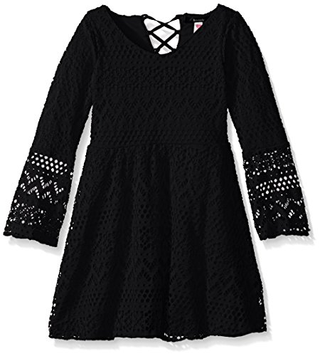 kensie-big-girls-bell-sleeve-knit-skater-dress-black-8-10