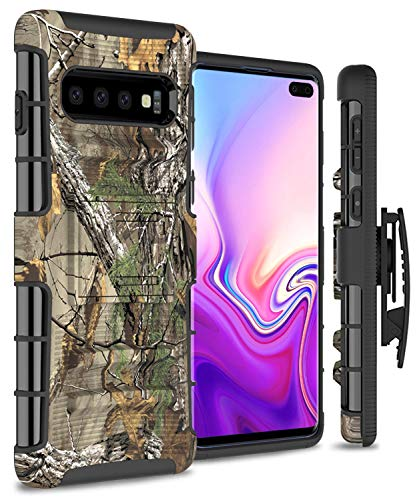 CoverON Explorer Series Samsung Galaxy S10 Plus Holster Case Heavy Duty Protective Phone Cover with Kickstand and Belt Clip Holster - Camo