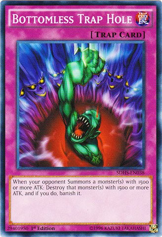 Yu-Gi-Oh! - Bottomless Trap Hole (SDHS-EN038) - Structure Deck: HERO Strike - 1st Edition - (Yu Gi Oh Bottomless Trap)