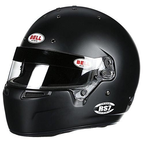 Bell 1310018 RS7 MATTE BLACK 61 (7 5/8) SA2015/FIA8859-2015 (HANS) BELL HELMET - Free Deluxe Helmet Bag Included ()