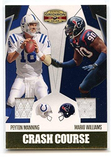 2010 Panini Gridiron Gear Crash Course Jerseys #3 Peyton Manning Mario Williams (Jersey Mario Williams)