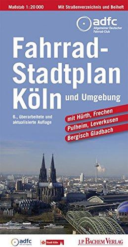 Fahrradstadtplan Köln und Umgebung: Hürth, Frechen, Pulheim, Leverkusen und Bergisch Gladbach