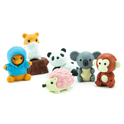 Iwako Japanese Kawaii Animal Eraser Set: Toys & Games