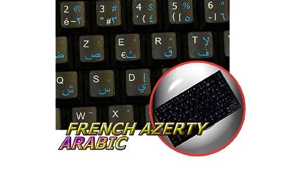 15x15 Size Spanish English Non-Transparent Keyboard Stickers White Background