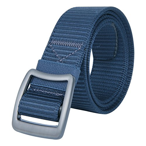 JINIU Tactical Heavy Duty Reinforced Nylon Belt for Men Adjustable Military Webbing Belt Strap with Metal Buckle