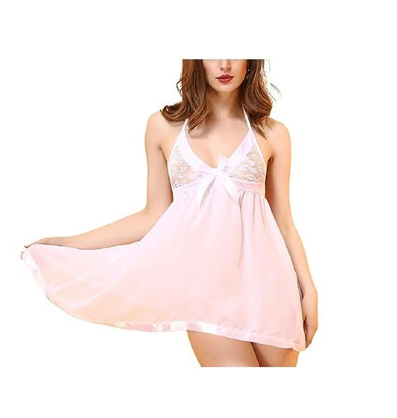 Vestidos cortos color blanco con encaje
