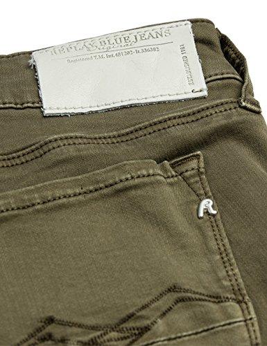 military Replay Mujer Verde Jeans Brigidot Green fZ7ZrTIn