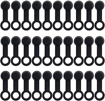 Zuzer 100 Stück Bremse Schraubkappen Gummi Staubschutz Schwarzer Bremse Schraubkappen Gummi Bremsentlüftung Für 8mm Motorrad Motorradfitting Kappe Gummistaubschutz Auto