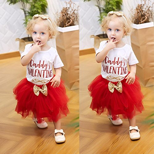 Muxika Newborn Kids Baby Girls Valentine S Day Outfits Set Letter