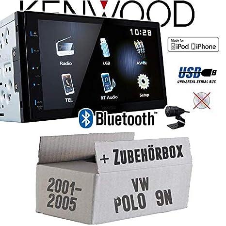 VW Polo 9N - Autoradio Radio Kenwood DMX110BT - 2DIN Bluetooth ...