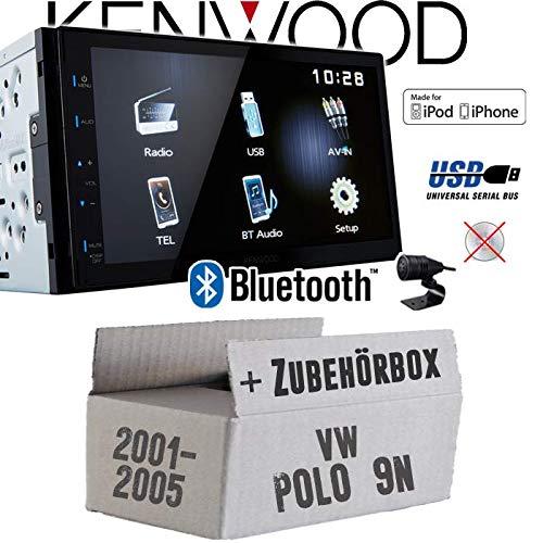MP3 2DIN Bluetooth 7 TFT Einbauzubeh/ör USB Autoradio Radio Kenwood DMX110BT Einbauset VW Polo 9N