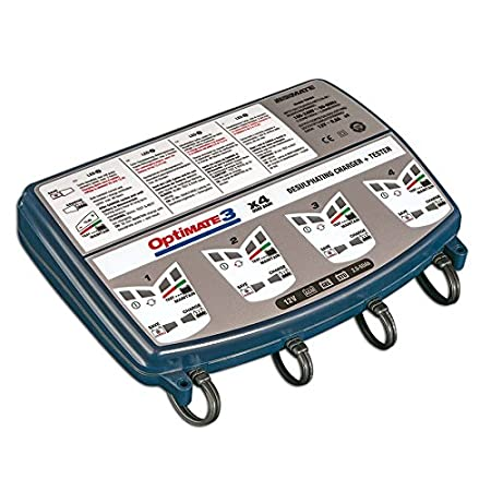 Tecmate Optimate 3 x 2 Bank, TM-451, 2-Bank x 7-Step 12V 0.8A Battery Saving Charger-Tester-maintainer
