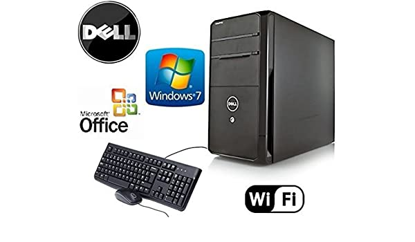 Dell Gamer Vostro Tower Quad Core i7 3.4GHz HDMI Windows 7 Pro 24GB RAM