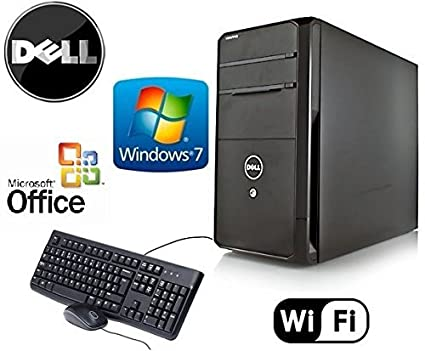 Dell Gamer Vostro Tower Quad Core i7 3.4GHz HDMI Windows 7 Pro 24GB RAM ""