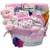 Simply Baby Girl Necessities Basket - Pink