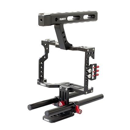 Amazon com : FILMCITY DSLM Camera Cage for Sony A7/ A7R/ A7S