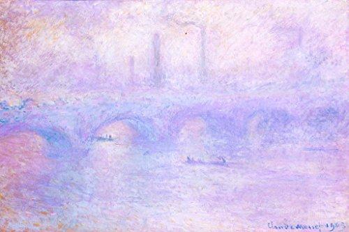 Claude Monet Waterloo Bridge Effect Of Fog Poster 18x12