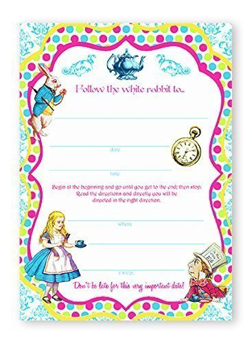 Amazon Com Alice In Wonderland Brights 10 Invitations 10