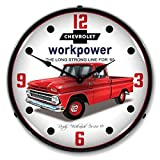 New 1965 Chevrolet Truck Retro Vintage Style Advertising Backlit Lighted Clock Ships Free to Lower 48 States