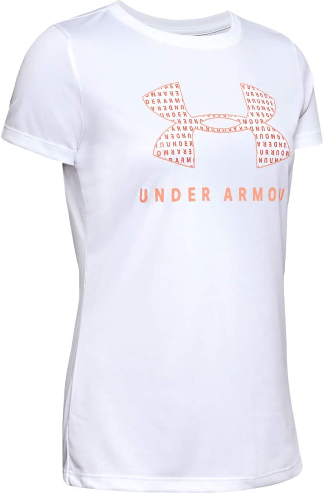 Under Armour Womens Tech Logo Graphic Crew Neck Short Sleeve T-Shirt
