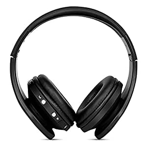 FX-Victoria Dual Mode Wireless Over-Ear Headphone On Ear Headphone Stereo Headset Lightweight Design, Compatible with Smartphones, Tablets, PC,iPods, iPhones, iPads, Laptops-Black