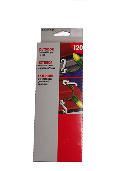 amazoncom shingle gutter outdoor christmas light clips hooks 120 pack home kitchen - Outdoor Christmas Light Hooks