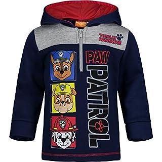 Paw Patrol Toddler Boys Fleece Hoodie Pullover Sweatshirt with Zipper Navy 4T