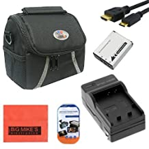 Starter Accessory Kit for Canon PowerShot SX500 IS SX510 HS Digital Camera - Includes NB6L NB6LH Battery & Charger + Deluxe Carrying Case + Mini HDMI + More!!