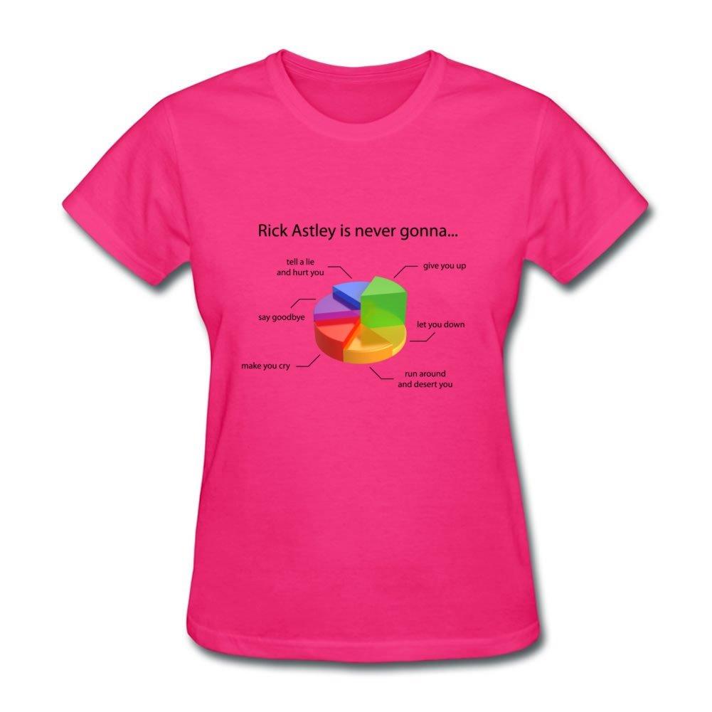 Women Xxx Large T Shirt Rick Astley Pie Chart Pink Printed Amazon