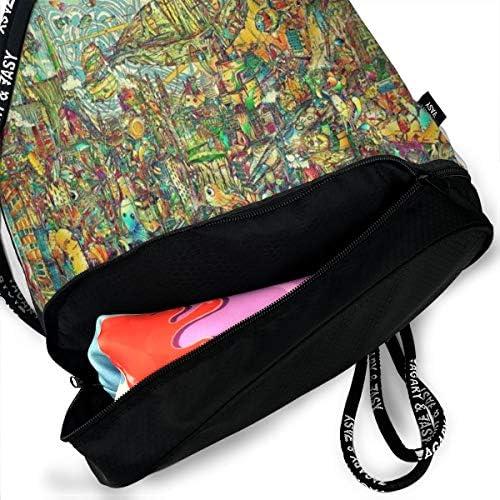 GymSack Drawstring Bag Sackpack Abstract Eye Artwork Sport Cinch Pack Simple Bundle Pocke Backpack For Men Women