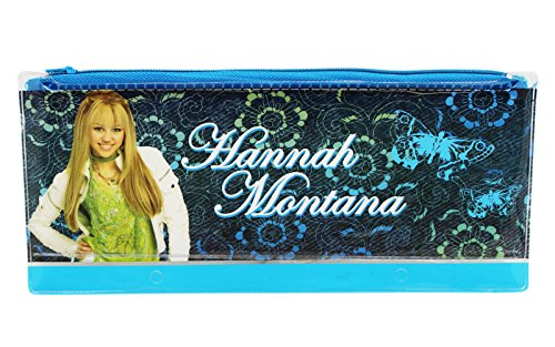 (Disney's Hannah Montana Dual Blue Shade Kids Pencil Pouch)