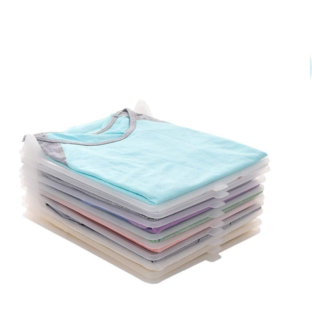 V-mix Closet Organizer, Clothes/T-Shirt Underwear Folder with 10-Piece Adjustable Separate Board