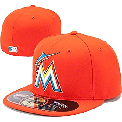 Miami Marlins MLB 59Fifty Fitted Cap by New Era (Orange-White)
