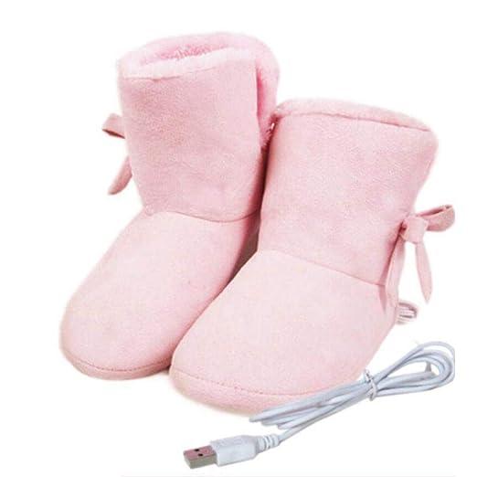 Zapatos De Calefacción Eléctrica USB, Zapatillas De Terciopelo Suave De Alta Ayuda Calentador De Pies Todo Incluido Almohadilla Caliente Lame ...