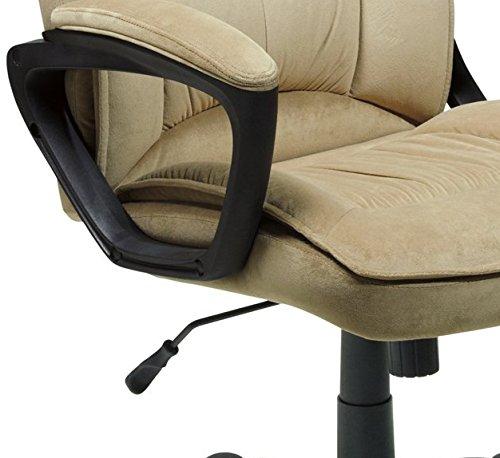 serta executive office chair microfiber light beige