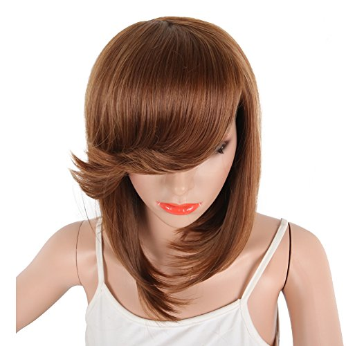 Search : SCENTW Short Pixie Cut Bob Synthetic Wigs for Women Heat Resistant Costume African American Wigs with Side Bangs Natural Brown Full Wigs Look Real(Natural Brown)