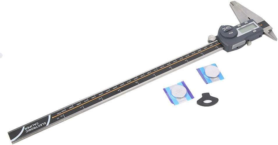Waterproof Digital Vernier Caliper Stainless Steel Ruler Measuring Tool Blue 0.01mm 0-300mm