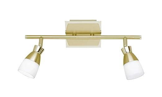 Deckenstrahler Decken Deckenlampe Flammig Messing Led Spot 2 CoWxBrde