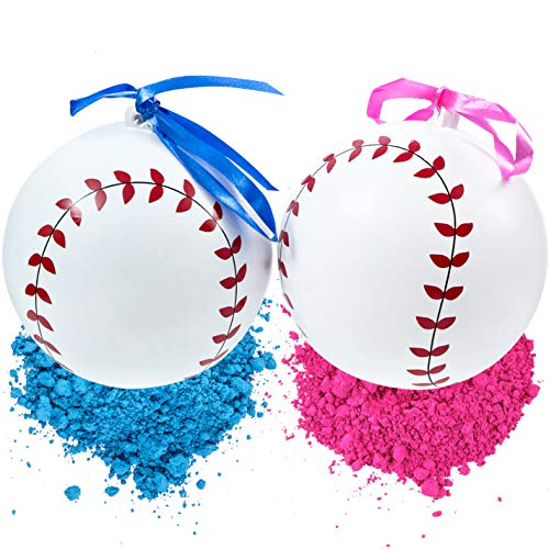 - Gender Reveal Baseball Set | 2 Exploding Balls With Pink & Blue Powder | Bigger Size