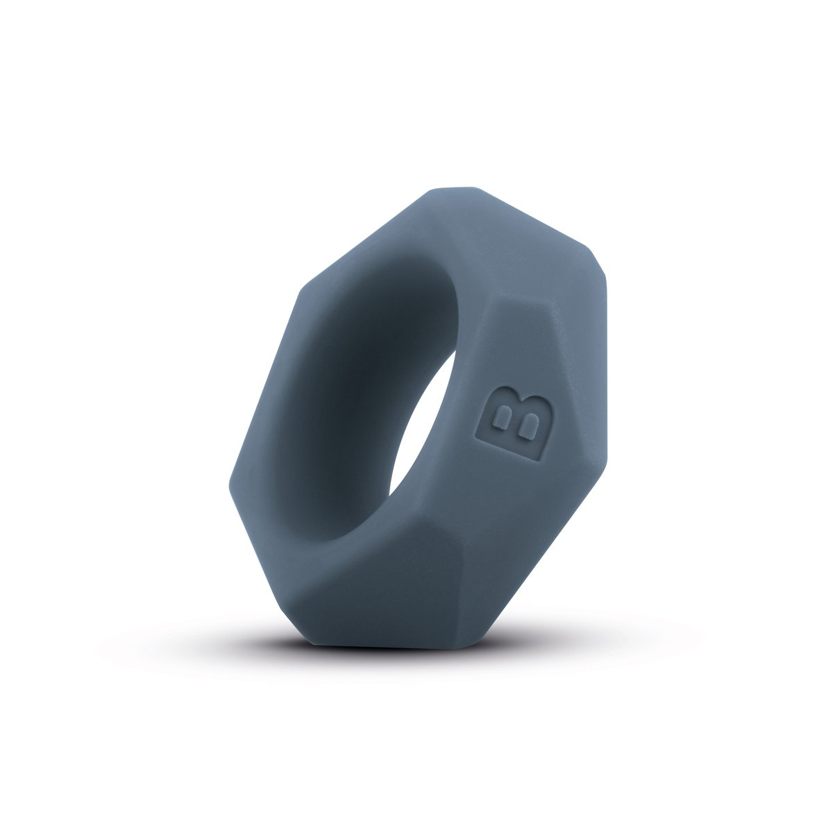BONERS Diamond Cock Ring - Ø1,5inch - Dark Grey - 100% Silicone Penis Ring