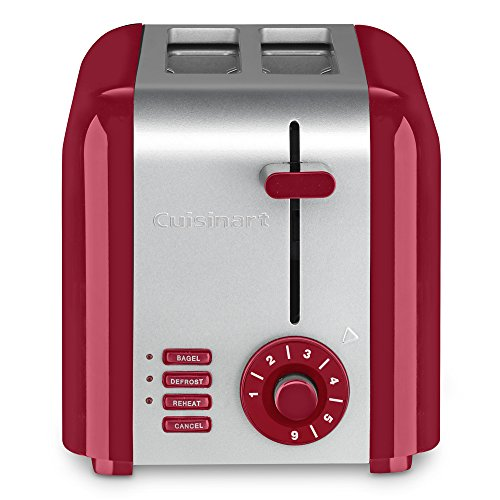 Cuisinart CPT-320R 2-Slice Compact Toaster, Stainless Steel/Red (Red Amazon Toaster)