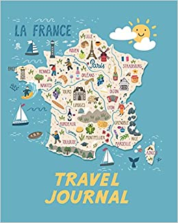 Map Of France Cartoon.Travel Journal Map Of France Kid S Travel Journal Simple Fun