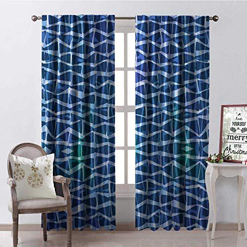 Hengshu Blue le Blackout Window Curtain Customized Curtains W108 x L108
