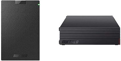 【セット買い】BUFFALO ポータブルSSD 日本製 PS4(メーカー動作確認済) USB3.1(Gen1) 対応 480GB SSD-PG480U3-B/NL 耐衝撃・コネクター保護機構 & 【Amazon.co.jp限定】外付けハードディスク 4TB テレビ録画/PC/PS4/4K対応 静音&コンパクト 日本製 故障予測 みまもり合図 HD-AD4U3