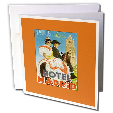 3dRose Sevilla Hotel Madrid Spain Festive Greeting Cards, 6