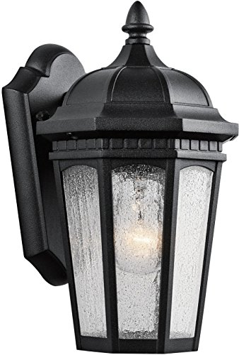 Kichler 9032BKT Courtyard Outdoor Wall 1-Light, Textured ()