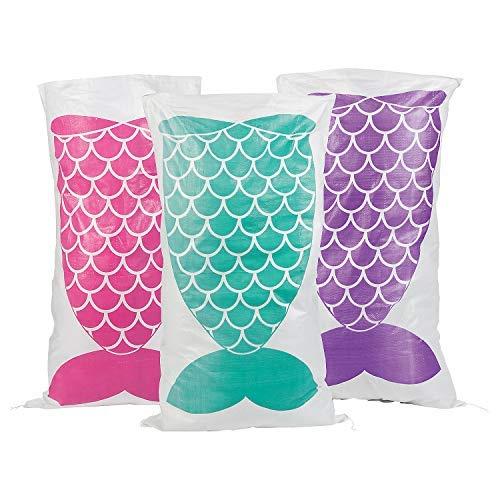 Fun Express Mermaid Sack Race Bags - Pack of 12 -