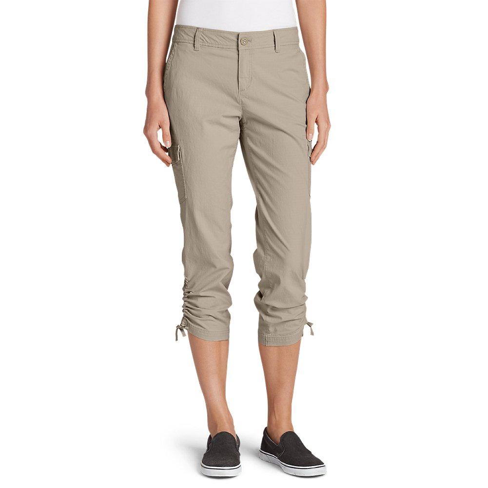 Eddie Bauer Women's Adventurer Stretch Ripstop Crop Cargo Pants - Slightly Curv