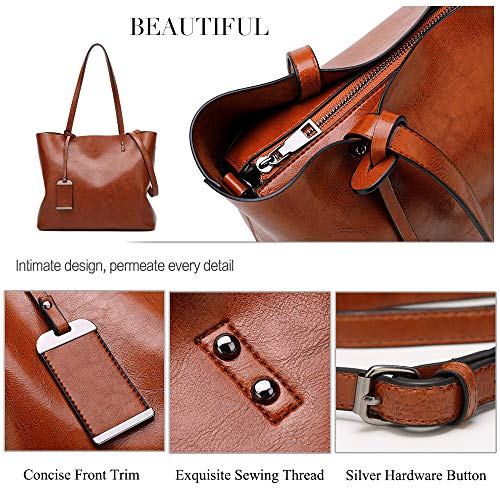 Tote Bag Messenger Top Handle Women Bag Red Shoulder Purse Satchel Handbags ALARION nAfz8qSxAw